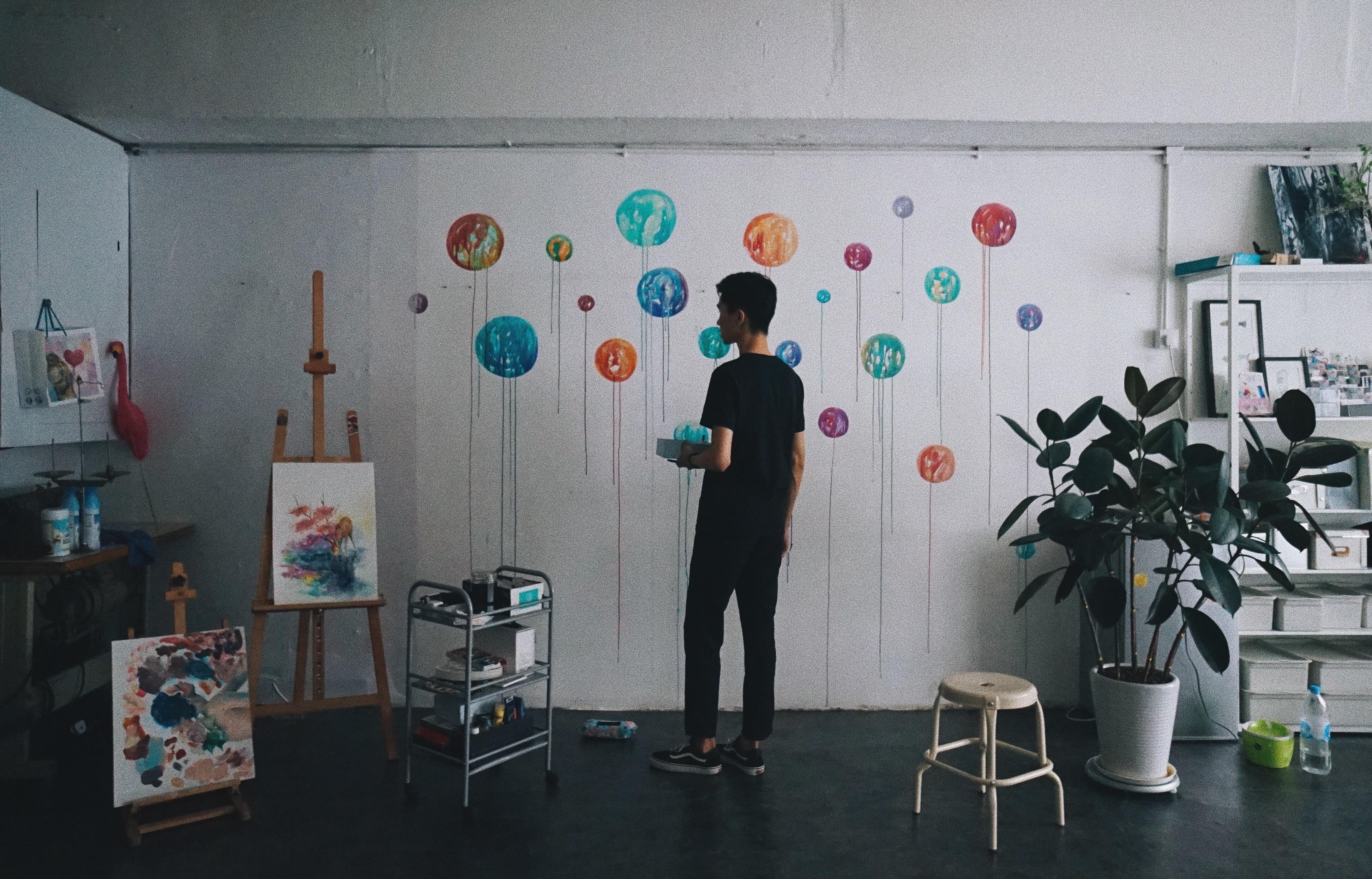 香港設計師皮忠 Live Painting