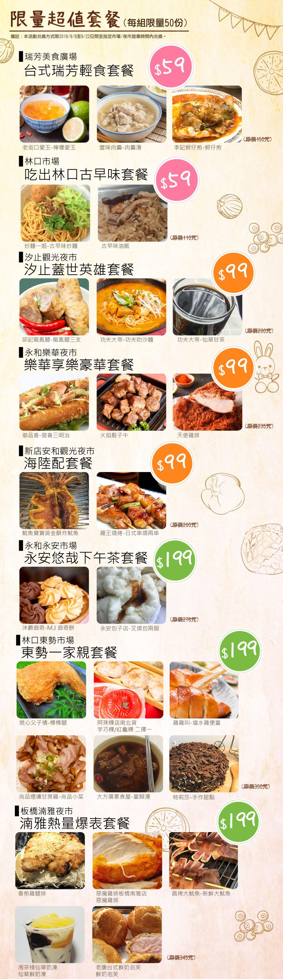 新北好市節美食嘉年華-超值套餐