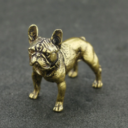 French bulldog frenchie mini brass figurine promote