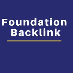 Foundation backlink promote